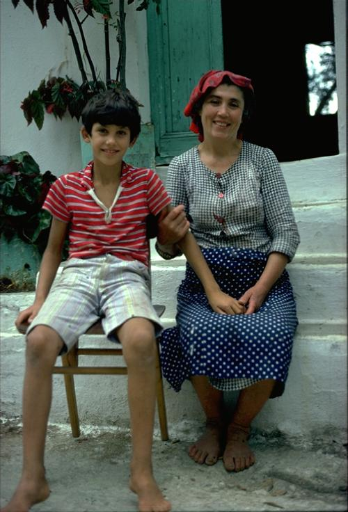 Nikos and mother in Corfu- apx. 1979 Photo: O.Leholt - Canon TX